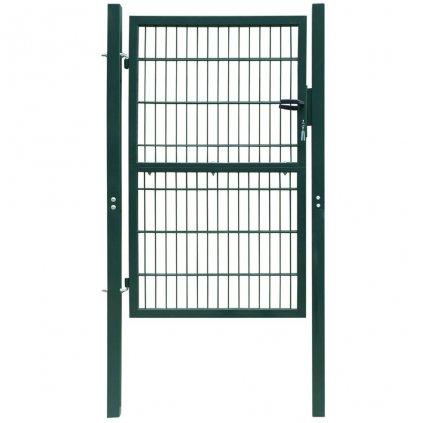 2D plotová branka (jednokřídlá) - zelená | 106x250 cm