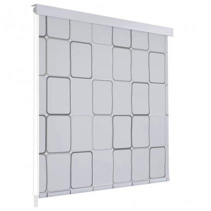 Sprchová roleta - 100x240 cm | čtvercový vzor
