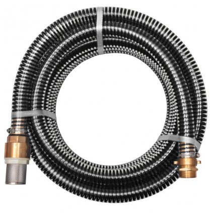 Sací hadice s mosaznými konektory - 4m - 25 mm   černá
