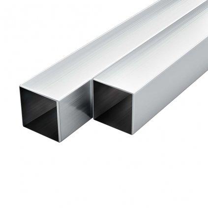 Hliníkové trubky - 6 ks - čtvercový průřez | 1 m 40x40x2 mm