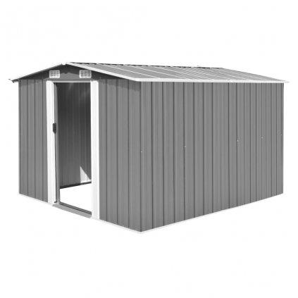 Zahradní domek Weston - kovový - šedý | 257x298x178 cm