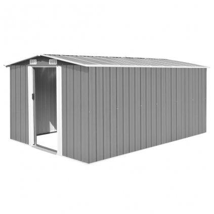 Zahradní domek Weston - kovový - šedý | 257x398x178 cm