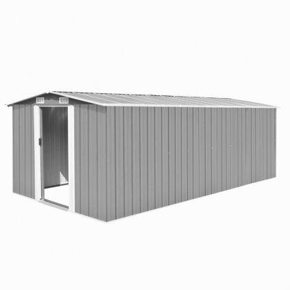 Zahradní domek Weston - kovový - šedý | 257x497x178 cm