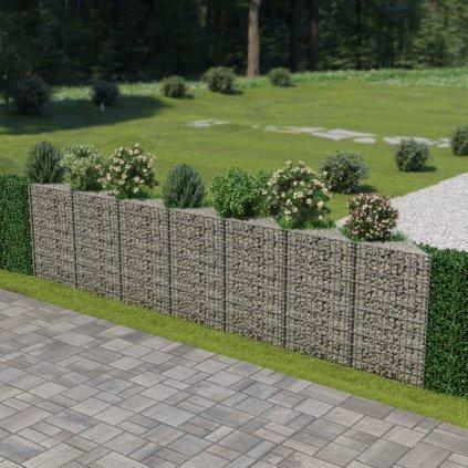 Gabionová zeď z pozinkované oceli | 450x30x100 cm