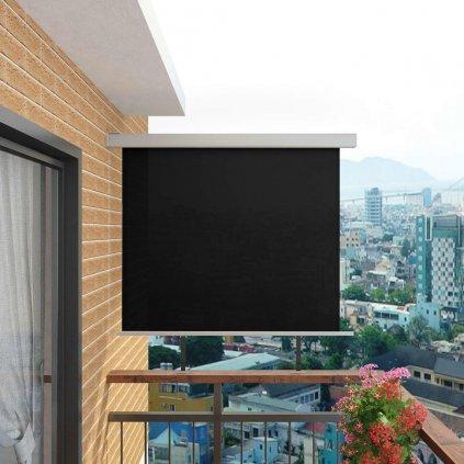 Balkonová zástěna multifunkční - 150x200 cm | černá