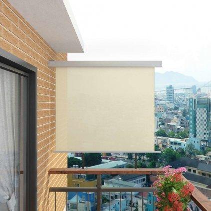 Balkonová zástěna multifunkční - 150x200 cm   krémová