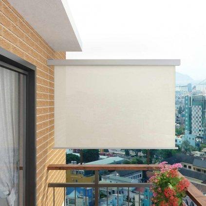 Balkonová zástěna multifunkční - 180x200 cm   krémová