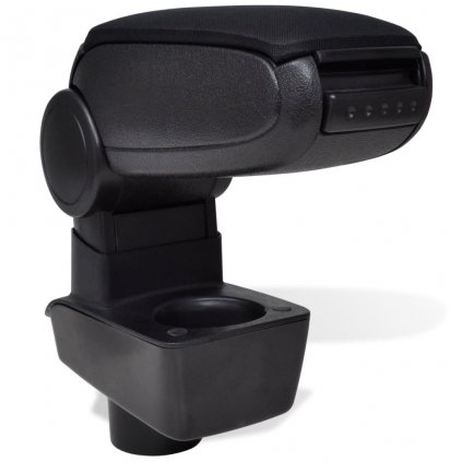 Černá auto loketní opěrka pro Ford Fiesta MK7 ( 2009 )