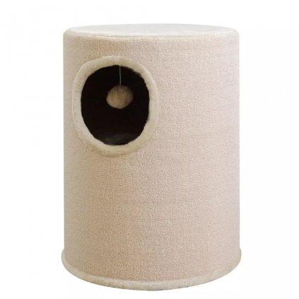 Béžový domek/škrabadlo pro kočky | 50 cm