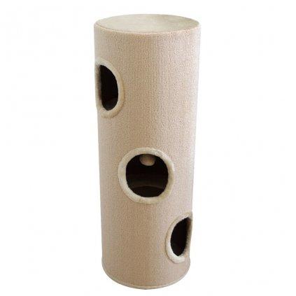 Béžový domek/škrabadlo pro kočky | 100 cm