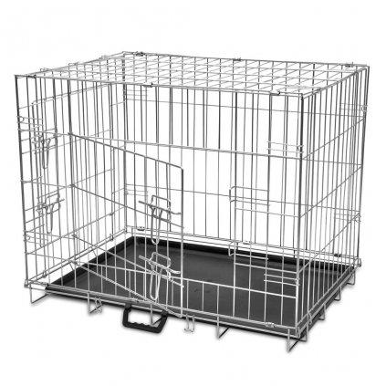 Skládací kovová klec pro psa | M