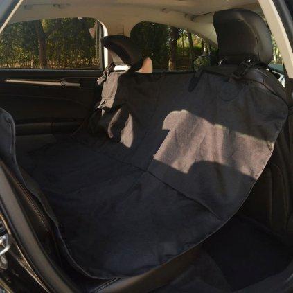 Chránič na zadní sedačku pro domácí mazlíčky - černý   148x142 cm