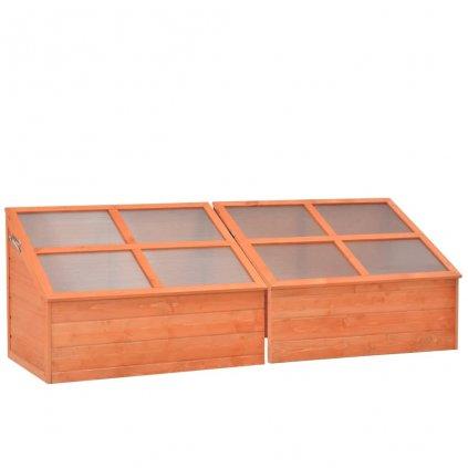 Skleník - dřevo | 180x57x62 cm