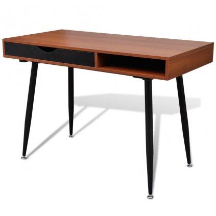 Psací stůl - vhodný pro notebook | hnědý