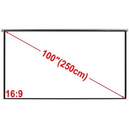 Projekční plátno - matná bílá - 200x153 cm | 4:3