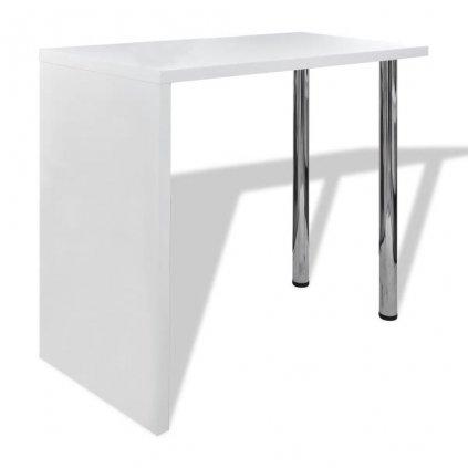 Barový / jídelní stůl s 2 nohami   bílý