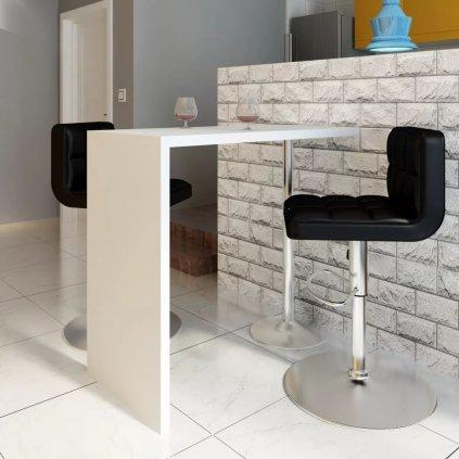 Barový / jídelní stůl s 1 nohou | bílý