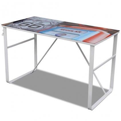 Jedinečný obdélníkový psací stůl   vícebarevný
