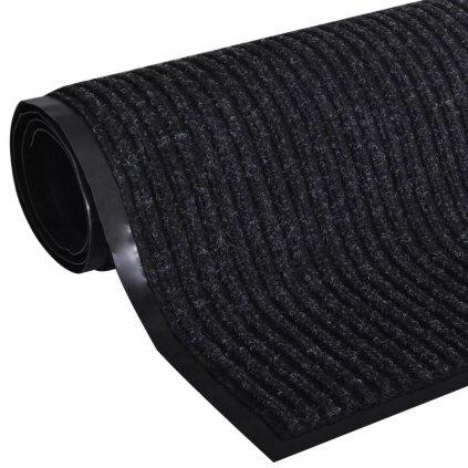 Černá PVC rohožka   90x150 cm