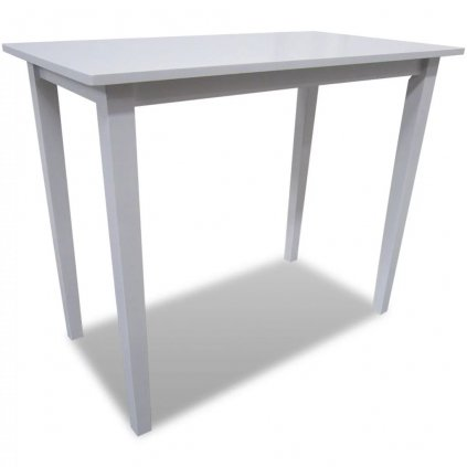 Barový stůl - dřevěný | bílý