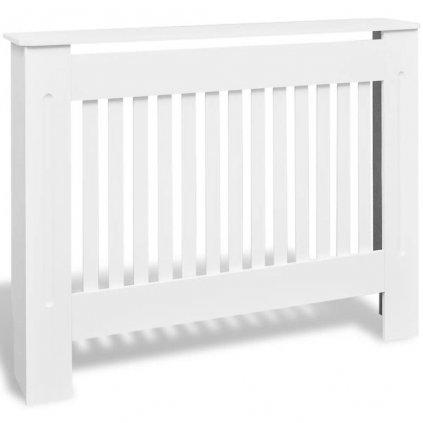 Bílý kryt z MDF na radiátor | 112 cm