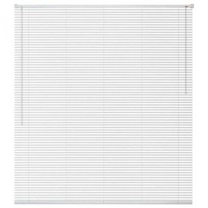 Okenní žaluzie - hliník - bílá | 100x130 cm
