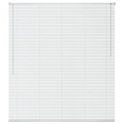 Okenní žaluzie - hliník - bílá | 100x220 cm