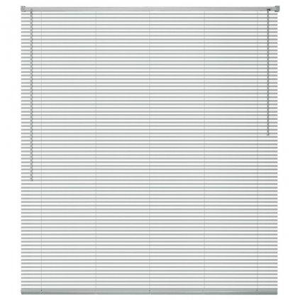 Okenní žaluzie - hliník - stříbrná | 100x130 cm