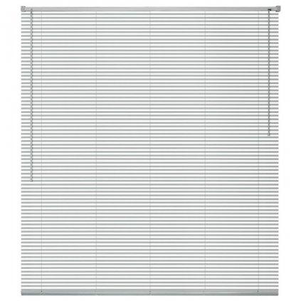 Okenní žaluzie - hliník - stříbrná | 100x160 cm