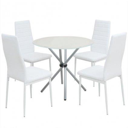 5-dílný jídelní set stolu a židlí