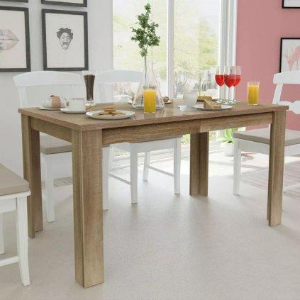 Jídelní stůl Isisford - 140x80x75 cm | dub