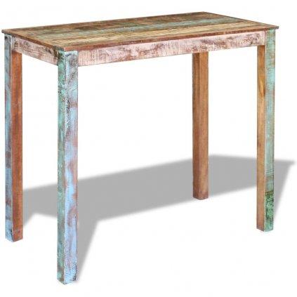 Barový stůl z masivního recyklovaného dřeva | 115x60x107 cm