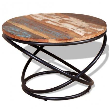 Konferenční stolek Lamont - masivní regenerované dřevo   60x60x40 cm