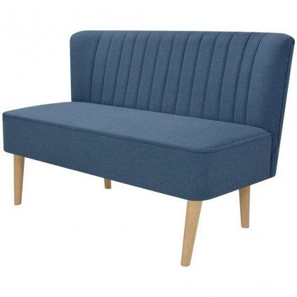Pohovka s textilním čalouněním - modrá | 117x55,5x77 cm