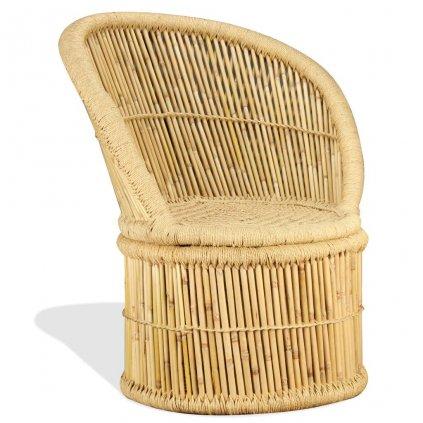Bambusové křeslo | 60x61x82 cm