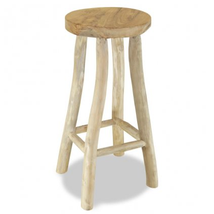 Barová stolička - teak | hnědá