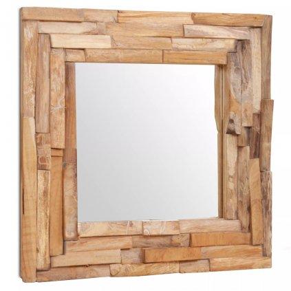 Dekorativní zrcadlo Clarks - čtvercové - teak | 60x60 cm