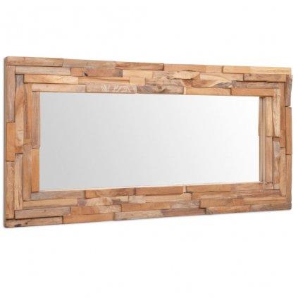 Dekorativní zrcadlo Clarks - obdélníkové - teak | 120x60 cm