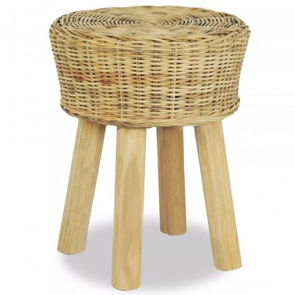 Barová stolička - přírodní ratan | 35x45 cm