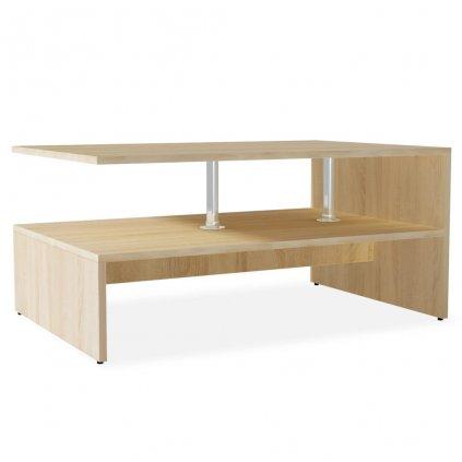 Konferenční stolek dřevotříska - 90x59x42 cm | dub