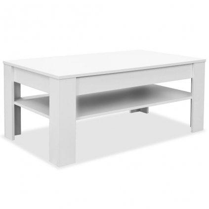 Konferenční stolek - dřevotříska - bílá   110x65x48 cm