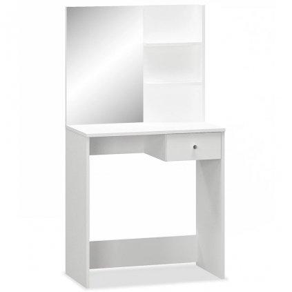 Toaletní stolek - dřevotříska - bílá | 75x40x141 cm