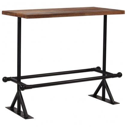 Barový stůl Dural - masiv - 120x60x107 cm | tmavě hnědý