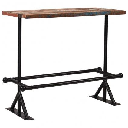 Barový stůl Rouse - masivní dřevo 120x60x107 cm | vícebarvený