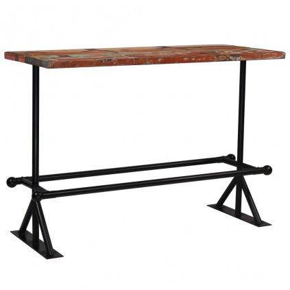Barový stůl Rouse - masivní dřevo 150x70x107 cm | vícebarevné