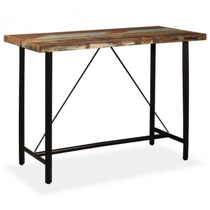 Barový stůl Hombsby - masivní dřevo | 150x70x107 cm