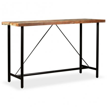 Barový stůl Hombsby - masivní dřevo | 180x70x107 cm