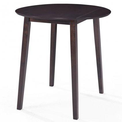 Barový stůl Alpha - masivní dřevo - 90x91 cm | tmavě hnědý
