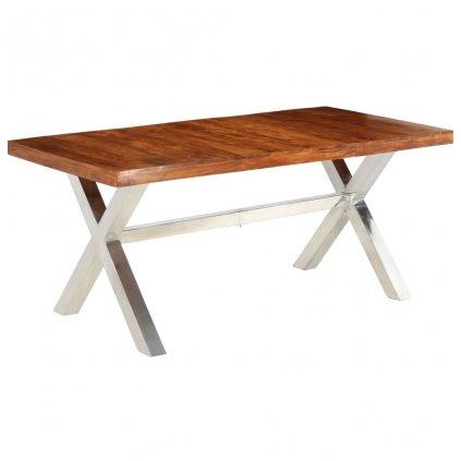 Jídelní stůl Dapto - masivní dřevo   180x90x76 cm