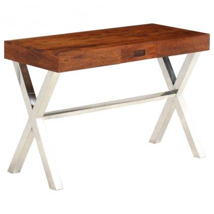 Psací stůl z masivní akácie s sheeshamovým povrchem | 110x50x76cm